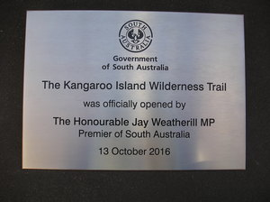 Commemorative Government stainless steel plaque